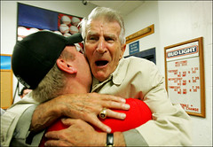 Johnny Pesky and Curt Schilling | by 41washington