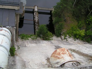 spillway of the brekke water power plant