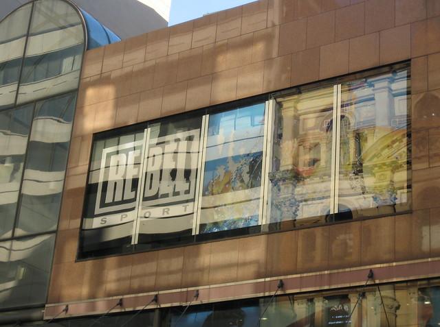 Reflections, pedestrian mall, Sydney