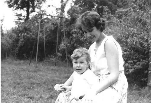Mother with my brother, circa 1962. England.