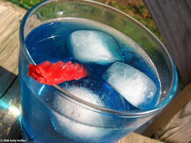 Berry Blue Kool-Aid with Twizzler Straw | Kelly Hoffart | Flickr