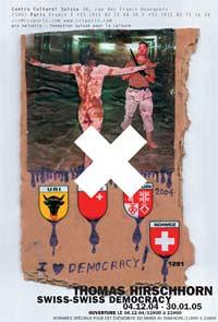 Affiche de l'expo Thomas Hirschhorn