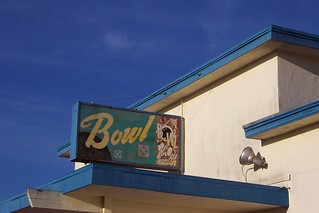 Treasure Island, abandoned bowling alley sign | by Telstar Logistics