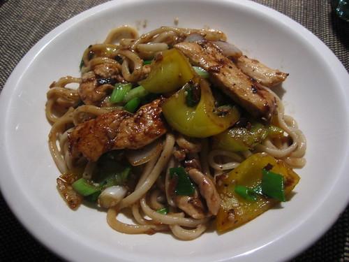 Chicken & noodle black bean stir-fry