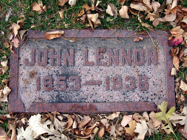 John Lennon S Grave I Found This At St Joseph S Cemetery Flickr