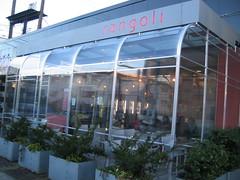 Vij's Rangoli has a heated, covered patio