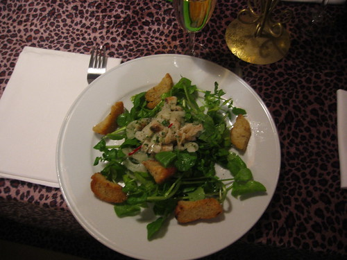 Watercress salad with dried cod and fennel