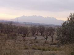 Montserrat una mañana helada