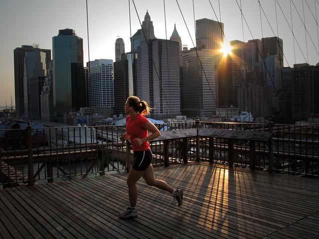 Brooklyn Bridge Jogger New York 2004 Kristen Elsby Flickr