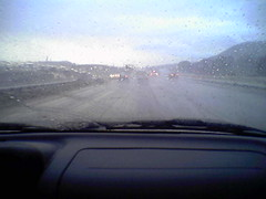 Rare san diego rainstorm