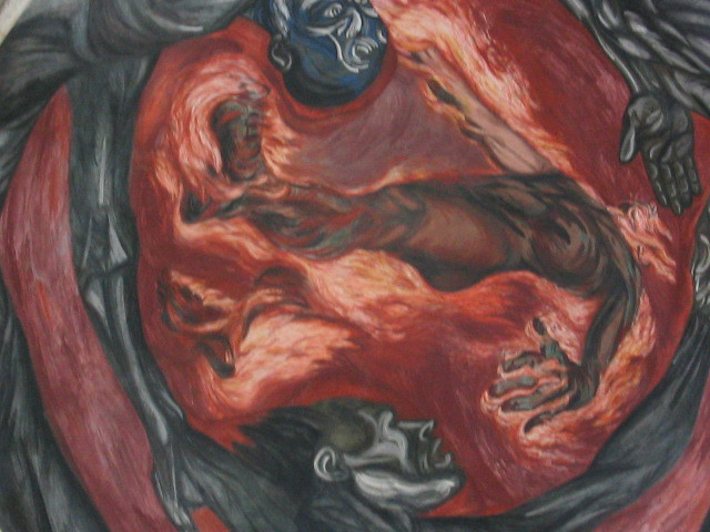 Jose Clemente Orozco Mural The Man Of Fire Instituto C Flickr