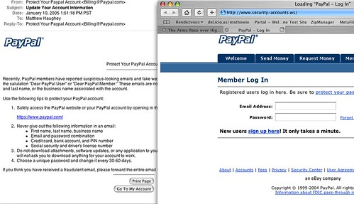 The king of all Paypal phishing scams   When I got a new ema