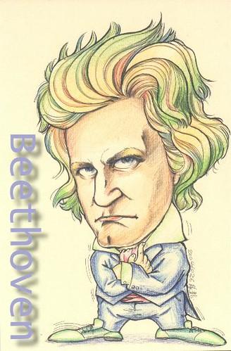 緣龍畫貝多芬