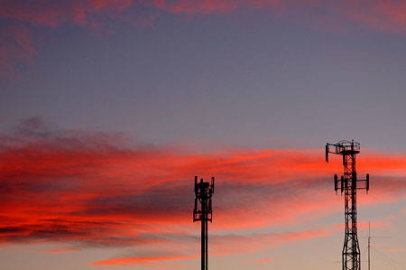 early morning antennas