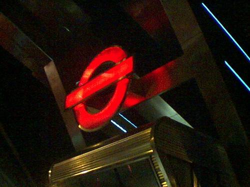 Vauxhall Terminal: London Transport Logo in Red Phase
