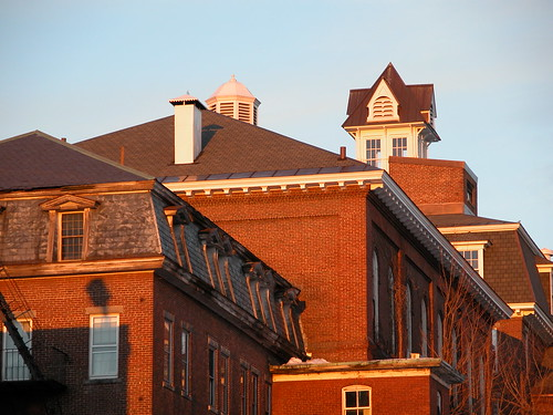 concord newhampshire red brick sunset newhampshireasylumfortheinsane