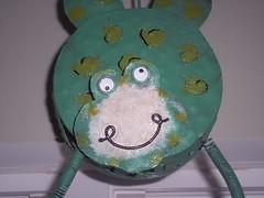Strange Hanging Frog