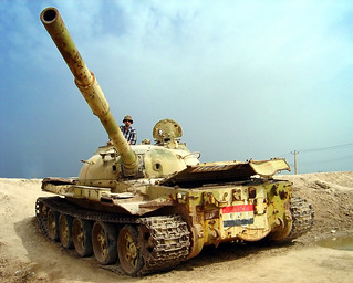 Me, Iraqi war tank | by Hamed Saber