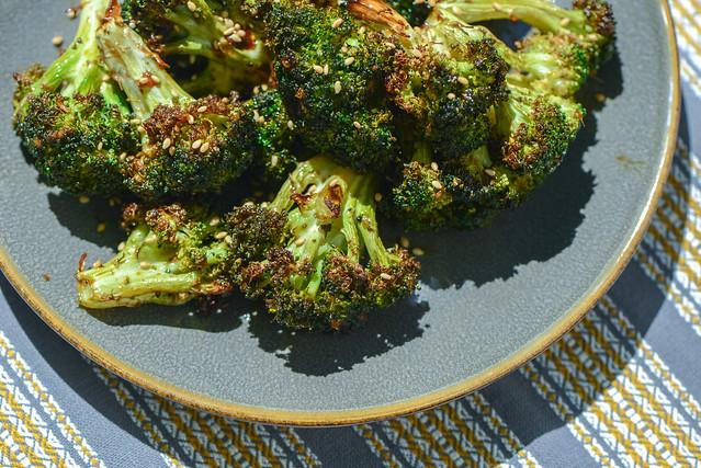 Grilled Hoisin Broccoli