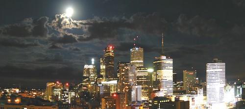 skyProject ~ moonlit toronto | by striatic
