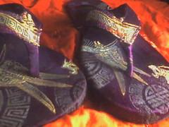 Silk sandals