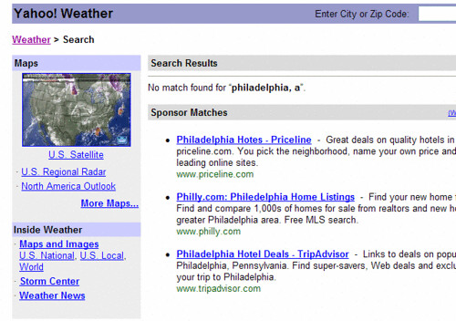 busted yahoo weather search functionality | by msippey