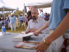 Neal Stephenson signs | by wasoxygen
