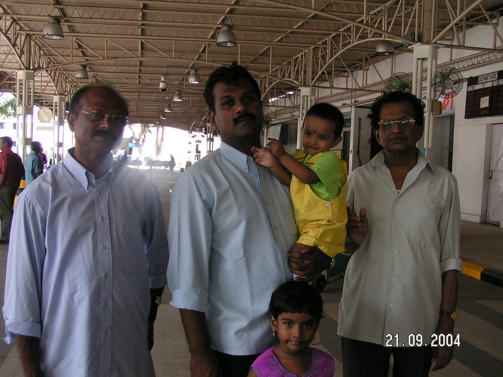 Me Devu Malu And My Two Uncles At The Airport On Septemb Flickr