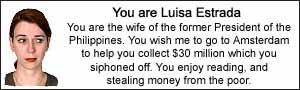You are Luisa Estrada.