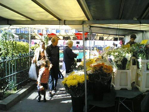 Marché Alésia : fleurs