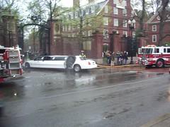 Limo crash at Harvard