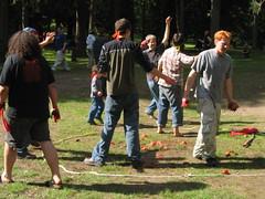 the Raid, Camp Tomato, Woodland Park, Seattle, WA