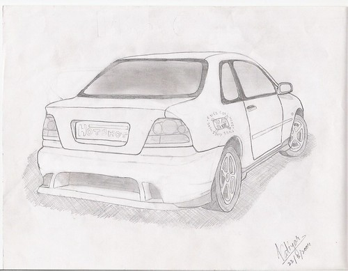 Honda City Rear - Modded