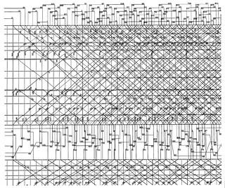 shinkansen timetable operation diagram for 12 00 noon