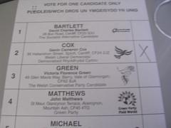My ballot