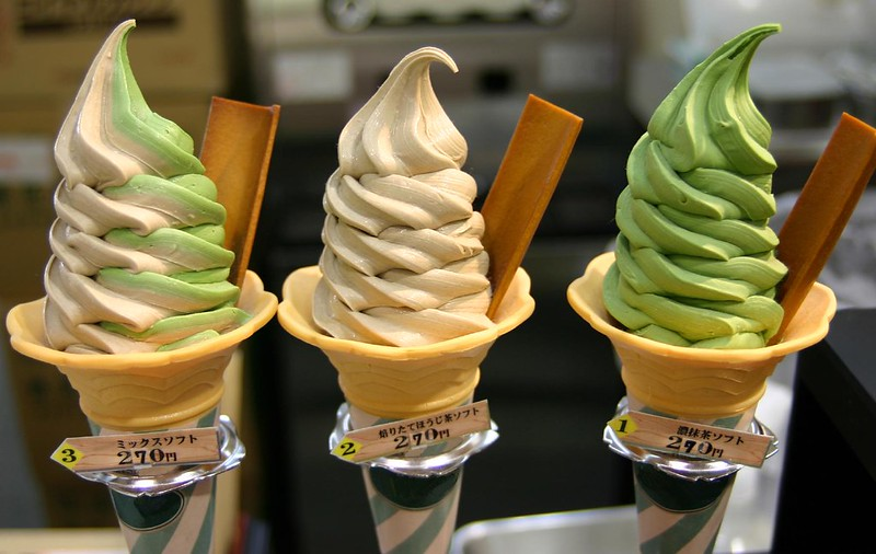 Japanese Tea Flavoured Ice Cream
