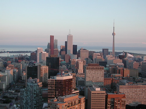 Toronto viewed south from Bloor at sunset | by Small