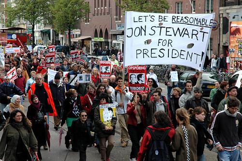 Dutch Anti-Bush, Pro-Stewart Demonstration '05