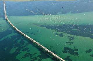 Busselton jetty - aerial shot