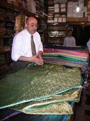 Elias Stephan in the silk shop