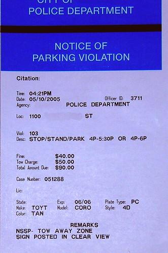 parking tkt