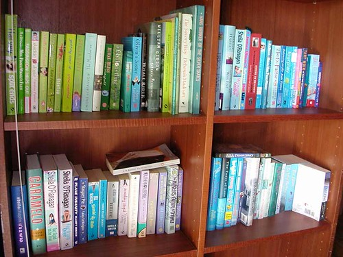 blue bookshelves | by chotda