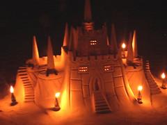 Sandcastle at Night