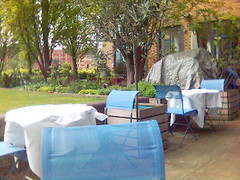 Alfresco dining area and vege garden