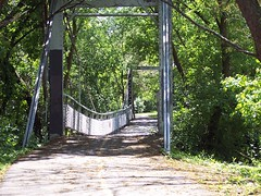 Bridge going over a stream