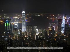 Hong Kong skyline noturno