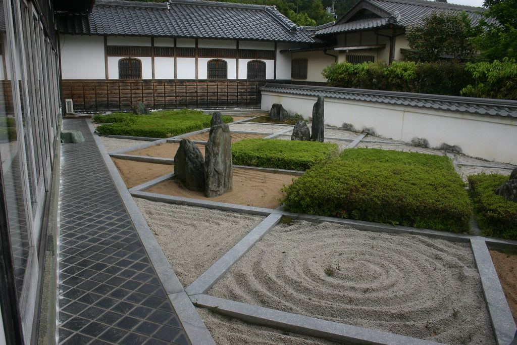 Zen Garden | This Temple Had Four Zen Gravel Gardens. Kanyou ...