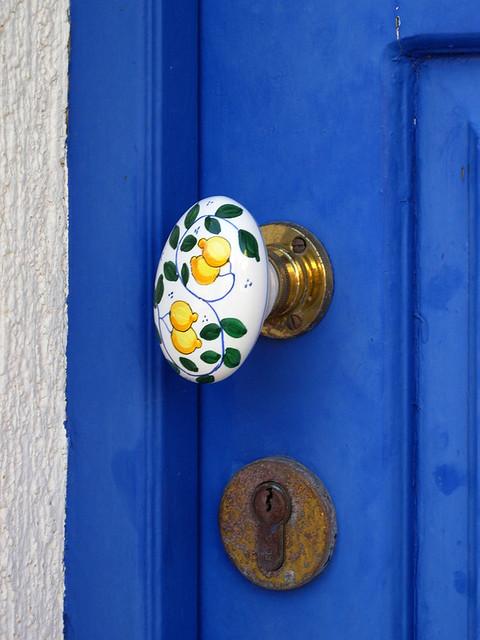 Hand-painted Door Handle