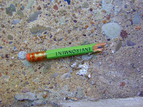 This is a metaphor for the destruction of the environment (or just a broken pencil on the sidewalk outside of Tram's) | by ndanger