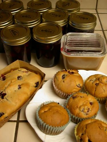 Cherry Muffin & Cherry Jam